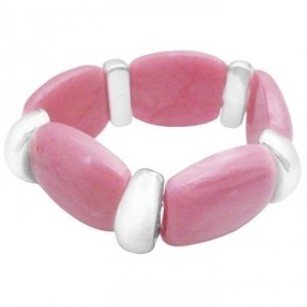 Fashionable Chic Pink Stretchable Bracelet High School Girls Jewlery
