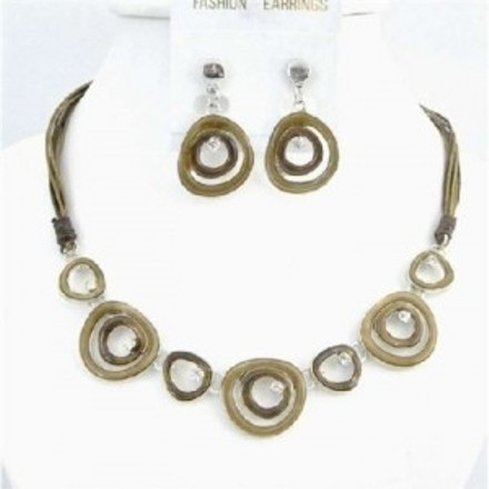 Brown Multi Rings Designed Artist Jewelry Set