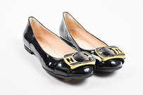Fendi Patent Leather Black Flats
