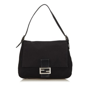 Fendi Black Fabric Leather Shoulder Bag
