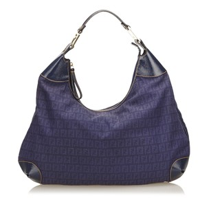 Fendi Blue Fabric Hobo Bag