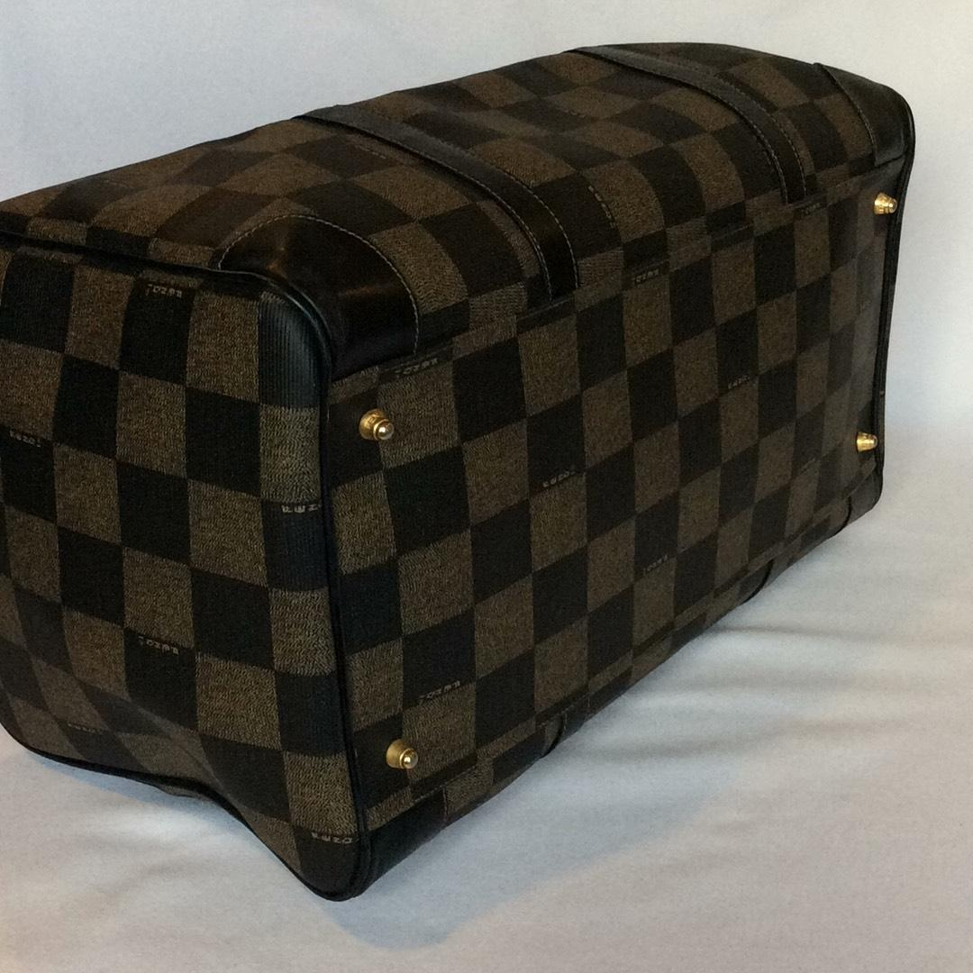 eee0cc0166f7 ... discount fendi checker board boston black pvc weekend travel bag tradesy  49f5e 322c2 ...