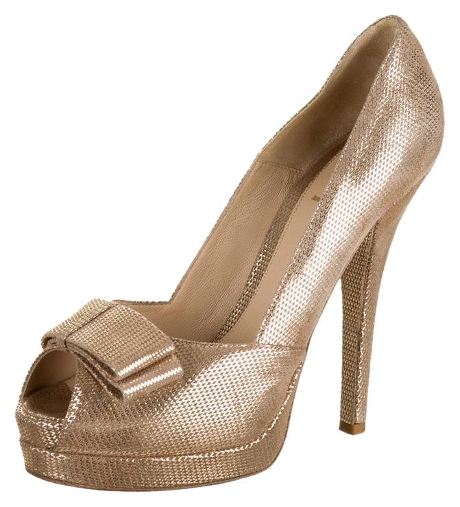 Gold Heel Stilettos