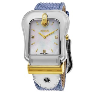 Fendi Fendi Women's Swiss Quartz Stainless Steel Leather Blue Dress Watch