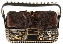 Fendi Fur Studded Baguette