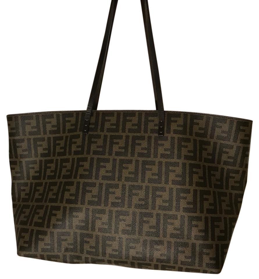 b5770080e02c ... inexpensive fendi large zucca canvas tote tradesy c565b 80a12