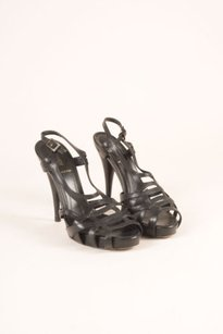 Fendi Leather Sandal Heels Black Pumps