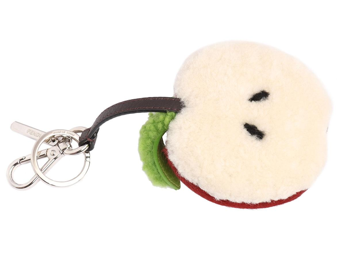 Fendi Apple shearling bag charm q3G53b