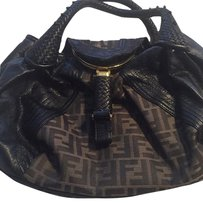 Fendi Satchel in Black And Tan
