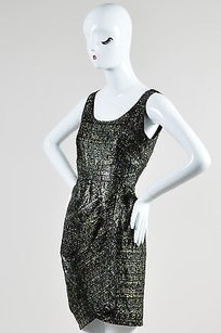 Fendi Green Gray Black Tweed Dress