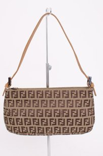 Fendi Zucchino Tan Shoulder Bag