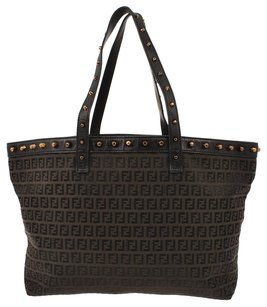 Fendi Vintge Zucca Pattern Tote Shoulder Bag