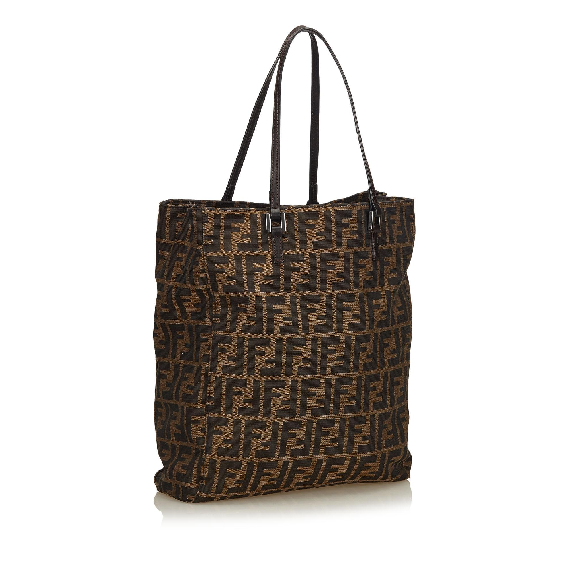 debed49bbcf3 ... best others jacquard tote x x zucca leather fabric x fendi brown  f487awqp 2103b ca610 shop ...