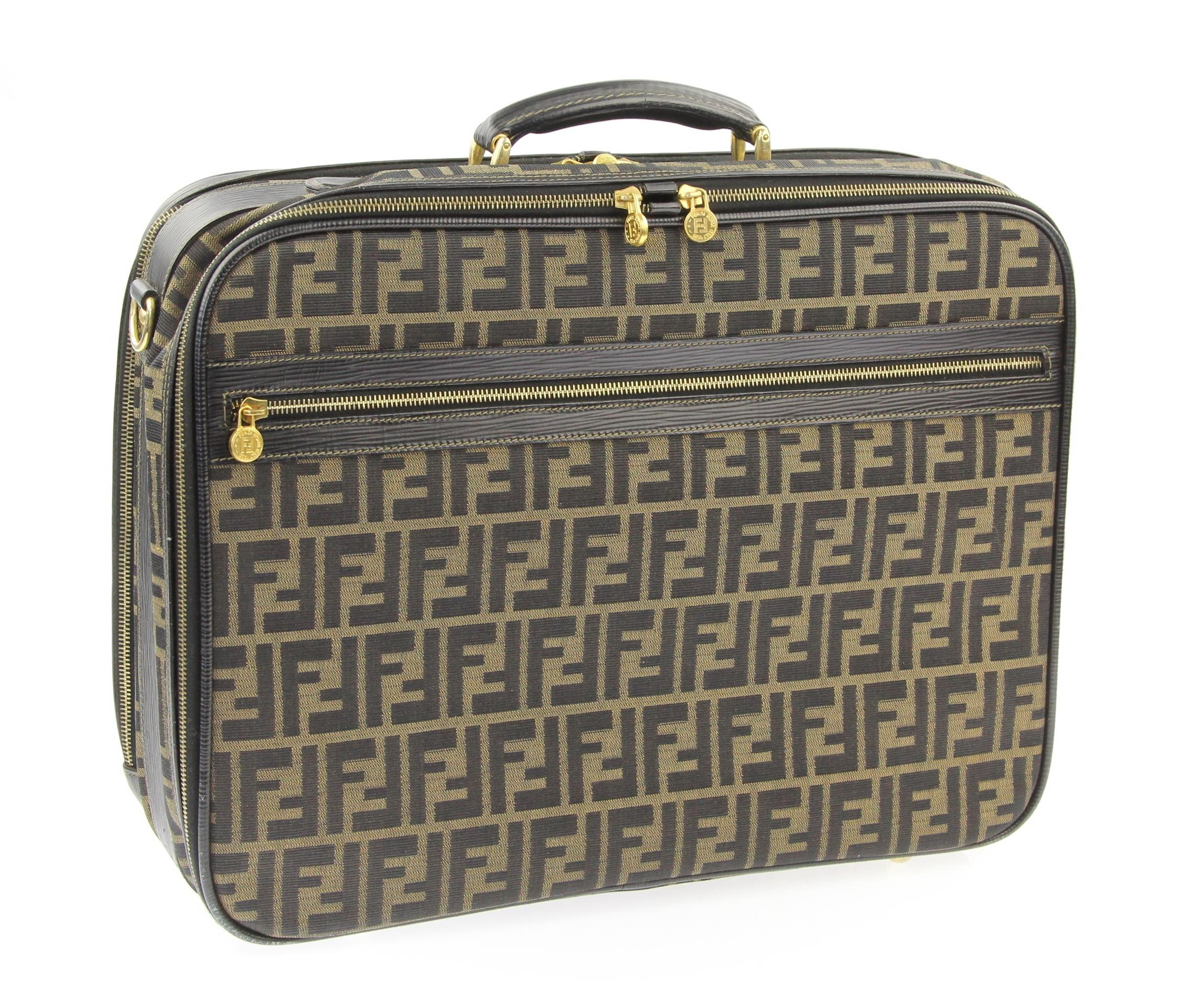 9deb4a2c6fbe ... low price fendi zucca luggage brown canvas weekend travel bag tradesy  2345e 16081 ...