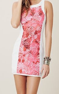Finders Keepers short dress Multi-Color Fool In Love Rose Print White Mini Shift Var on Tradesy