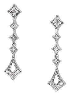 Fine Jewelry Vault Brilliant Cut Diamonds White Gold Fancy Drop Earrings