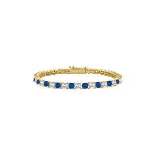 Fine Jewelry Vault Created Sapphire and Cubic Zirconia Tennis Bracelet with 5.00 CT TGW