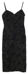 Flavio Castellani Embroidered Eyelet Floral Ruched Sequin Xxsxs Dress