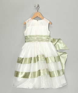 Tiptop Ivory/ Taupe Flower Girl Dress