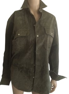 For Joseph Button Down Shirt Khaki