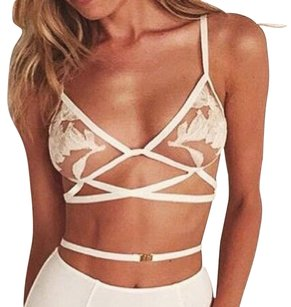 For Love & Lemons FOR LOVE & LEMONS Orchid Nude Mesh Bralette