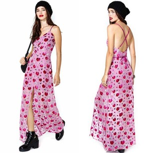 Fuchsia Maxi Dress by For Love & Lemons