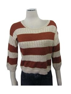 Forever 21 21 Boat Neck Shimmer Cable Knit Sweater