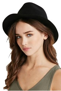 Forever 21 Forever 21 Raw-Cut Wool Fedora Black