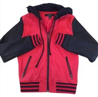 Forever 21 Leather Hoodie New Red/Black Jacket