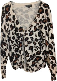 Forever 21 Leopard Cardigan off-white, brown, black Jacket