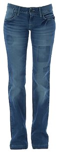 Fornarina Womens Light Wash Straight Leg Jeans