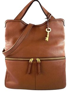 Fossil Leather Erin Tote in Brown