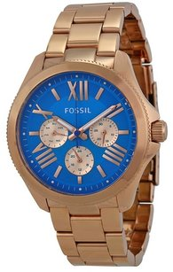 fossil Fossil Cecile Multi-Function Blue Dial Rose Gold-tone Steel Ladies Watch