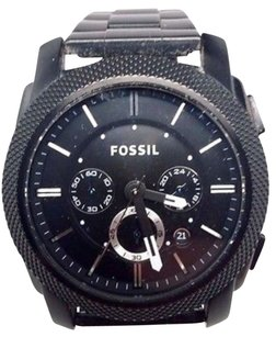 Fossil Fossil Chronograph Black Ion-plated Mens Watch Fs4552 Crown Broke Off