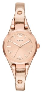 Fossil Fossil ES3425 Georgia Three-Hand Rose Gold-Tone Leather Women's Watch