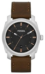 Fossil Fossil FS4860 Machine Three-Hand Brown Leather Men's Watch