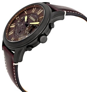 Fossil FOSSIL Grant Dark Brown Chronograph Leather Men's Watch FSFS5088