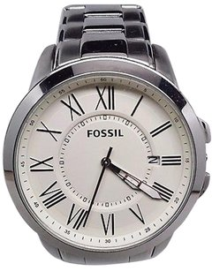 Fossil Fossil Grant Stainless Steel White Dial Analog Mens Watch Fs4734