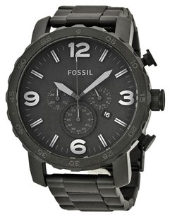 Fossil FOSSIL Nate Chronograph Black Dial Black Ion-plated Men's Watch FSJR1401