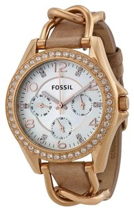 Fossil FOSSIL Riley Multi-Function Sand Dial Bone Leather Ladies Watch FSES3466