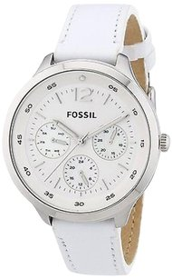 Fossil Fossil Women Es3249 The Editor Gmt White Dial Stainless Steel Watch