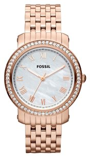 Fossil Fossil Women's ES3186 Emma Rose Tone Stainless Steel Watch