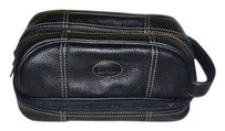 Fossil Leather Cosmetic Case Bag /Travel Makeup Bag in Black