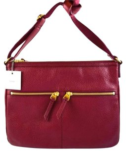 Fossil Leather Elise Top Zip Cross Body Bag