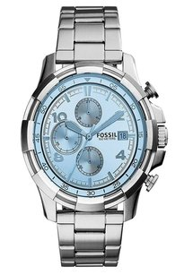 Fossil New!! Fossil End-of-season Dean Analog Blue Dial Men's Watch