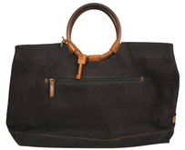 Fossil Canvas Circle Satchel in Black
