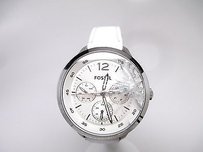 Fossil Watch Fossil Editor Es3249 Womens White Watch Es3249 Cracked Crystal