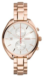 Fossil Women,s Land Racer Chronograph Rose-Tone Stainless Steel Watch