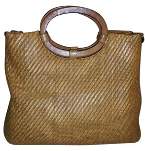 Fossil Woven Tote in Brown