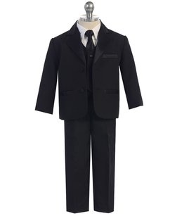 Fouger Boys Kids Children Formal Dress Tuxedo Black